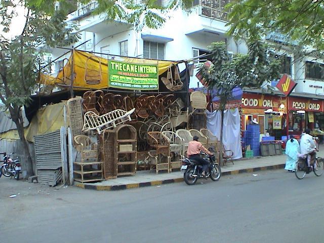 Scène de rue en Inde.